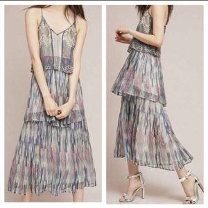Anthropologie | Meadow Rue Josie Tiered Maxi Dress